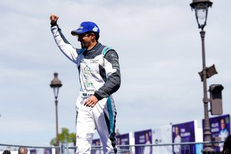 Ahmed Bin Khanen, Saudi Racing, celebrates on his way to the podium