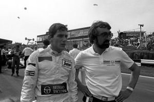 Ayrton Senna, Toleman, on the grid