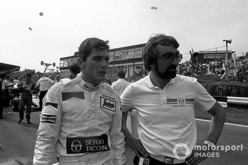 Ayrton Senna, Toleman, in griglia di partenza