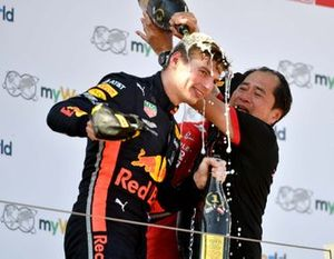 Max Verstappen, Red Bull Racing, Toyoharu Tanabe Honda F1 Technical Director