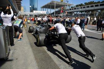 Mercedes mechanics much the car of Lewis Hamilton, Mercedes AMG F1 W10