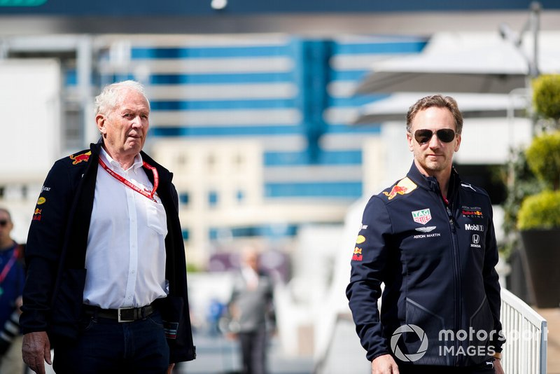 Helmut Markko, Consultant, Red Bull Racing and Christian Horner, Team Principal, Red Bull Racing