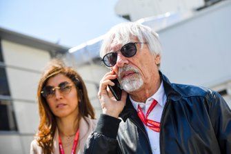Bernie Ecclestone, Chairman Emiritus of Formula 1 and his wife Fabiana