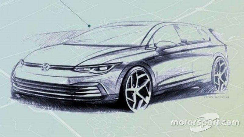 Тізер VW Golf 2020 року
