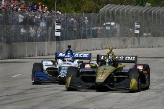 Marcus Ericsson, Arrow Schmidt Peterson Motorsports Honda, Takuma Sato, Rahal Letterman Lanigan Racing Honda
