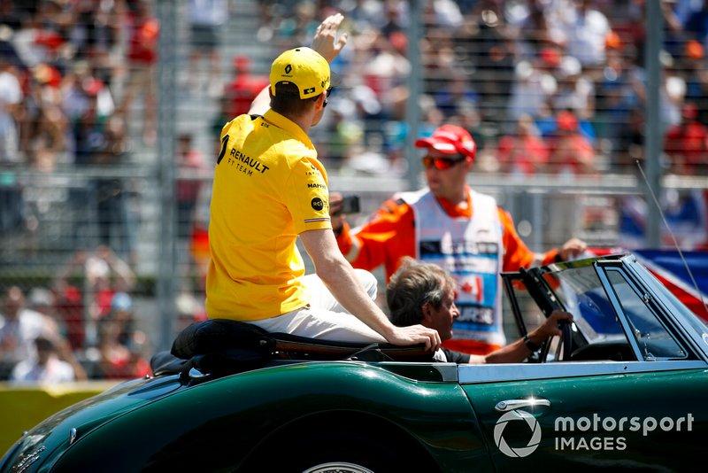 Nico Hulkenberg, Renault F1 Team, alla parata dei piloti