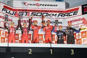 GT500 podium celebrations