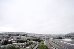 Snow over Spa-Francorchamps