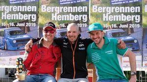 Le deuxième Marcel Steiner, le vainqueur Eric Berguerand, le troisième Thomas Amweg