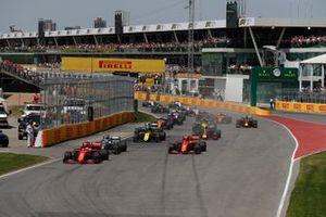 Start zum GP Kanada 2019 in Montreal: Sebastian Vettel, Ferrari SF90, führt