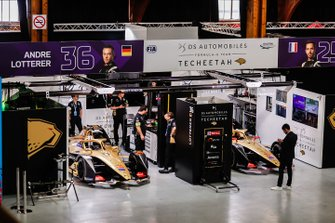 The DS TECHEETAH garage in the pit building