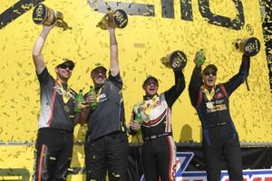 Winners Andrew Hines, Chris McGaha, Steve Torrence and Bob Tasca