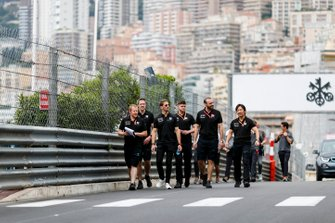 Romain Grosjean, Haas F1 walks the track