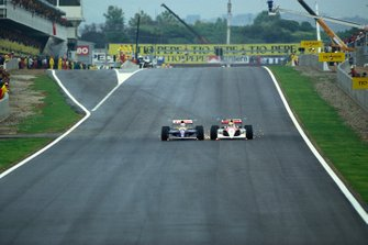 Nigel Mansell, Williams FW14; Ayrton Senna, McLaren MP4/6