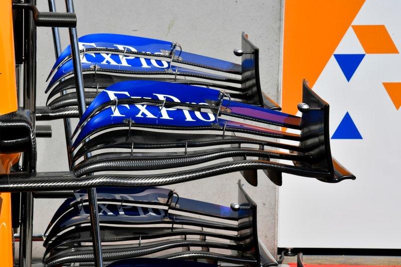 Front wing of McLaren MCL34
