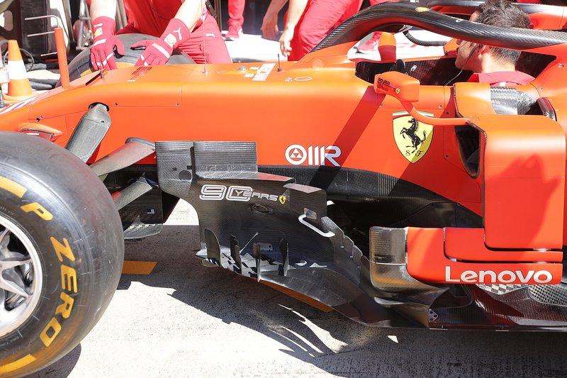 Detalhe do carro da Ferrari na Áustria