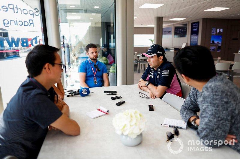 Sergio Pérez, Racing Point con los medios