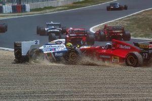 Ayrton Senna, Williams; Nicola Larini, Ferrari