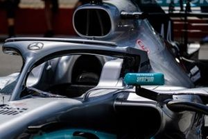 Mercedes AMG F1 W10 cockpit detail