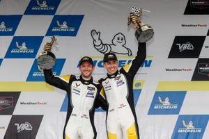 #4: Corvette Racing Corvette C8.R, GTLM: Tommy Milner, Nick Tandy celebrate on the podium