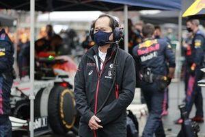 Toyoharu Tanabe, technisch directeur F1, Honda, op de grid