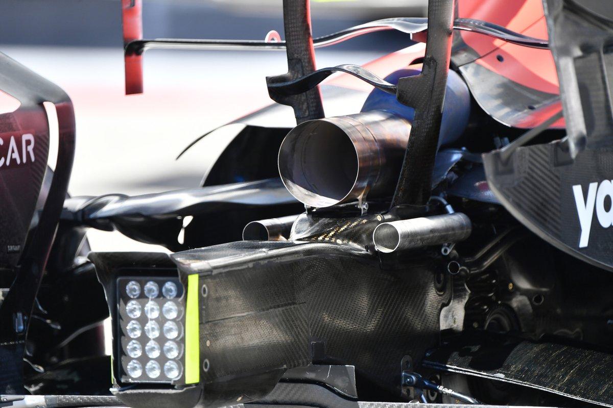 Detalle trasero del Red Bull Racing RB16B