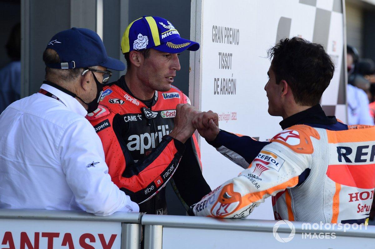 Aleix Espargaro, Aprilia Racing Team Gresini, Marc Marquez, Repsol Honda Team