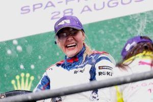 Emma Kimilainen, 1st position, on the podium