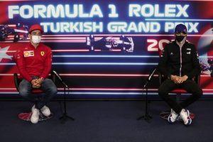 Charles Leclerc, Ferrari Esteban Ocon, Alpine F1 at the press conference