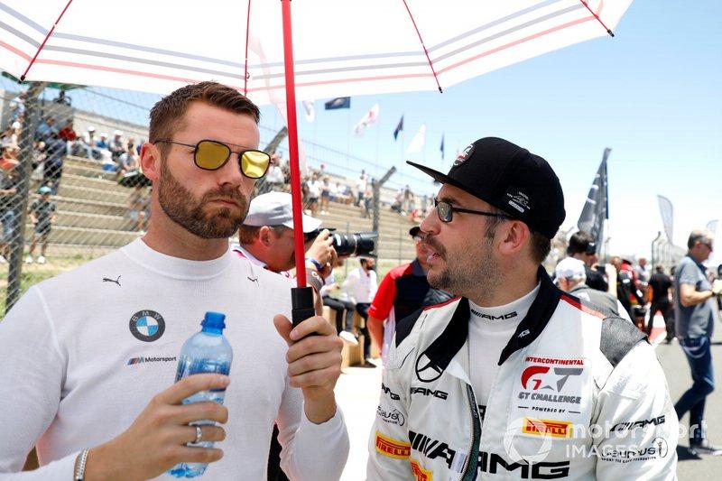 #42 BMW Team Schnitzer BMW M6 GT3: Martin Tomczyk, #10 Mercedes-AMG Team SPS Automotive Performance Mercedes-AMG GT3: Maximilian Götz