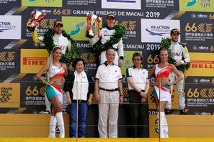 Podium: Race winner #999 Mercedes-AMG Team GruppeM Racing Mercedes AMG GT3: Raffaele Marciello, second place #98 ROWE Racing Porsche 911 GT3 R: Earl Bamber, third place #99 ROWE Racing Porsche 911 GT3 R: Laurens Vanthoor