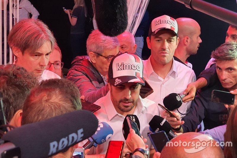 Fernando Alonso, conferencia de prensa de Toyota Gazoo Dakar