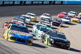 Kyle Busch, Joe Gibbs Racing, Toyota Supra Twix Cookies & Cream, Ross Chastain, Kaulig Racing, Chevrolet Camaro Nutrien Ag Solutions