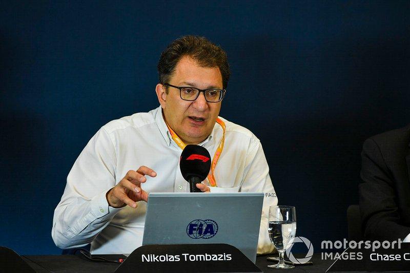 Nikolas Tombazis durante la conferenza stampa di presentazione del regolamento tecnico 2021 della Formula 1