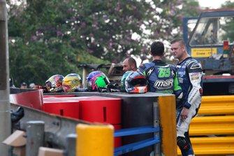 Red flag after second crash, Michael Sweeney, Martin Jones Racing BMW S1000RR, Didier Grams, G&G Motorsport BMW S1000RR