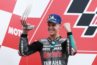 Podium: second place Fabio Quartararo, Petronas Yamaha SRT