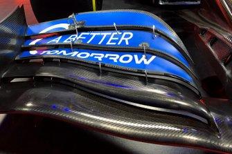 McLaren MCL35 voorvleugel detail