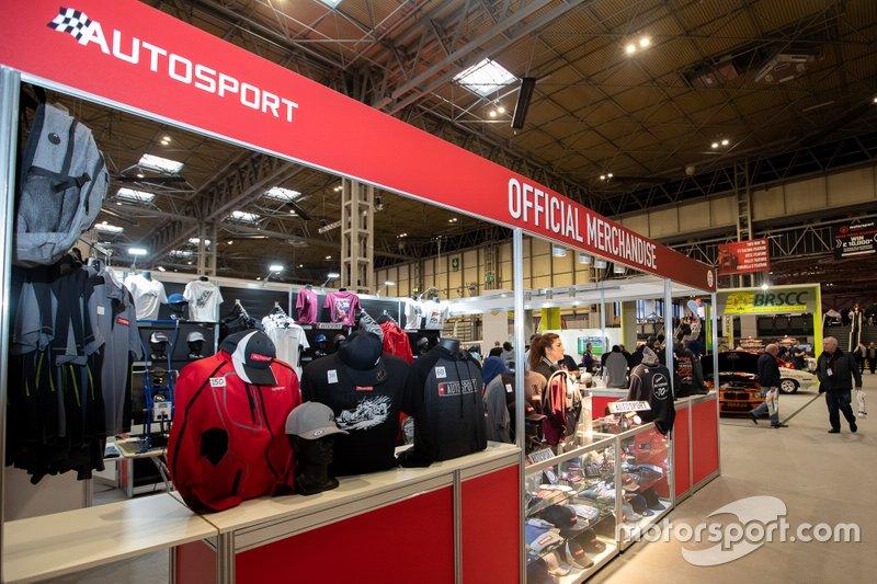 Autosport merchandise stand
