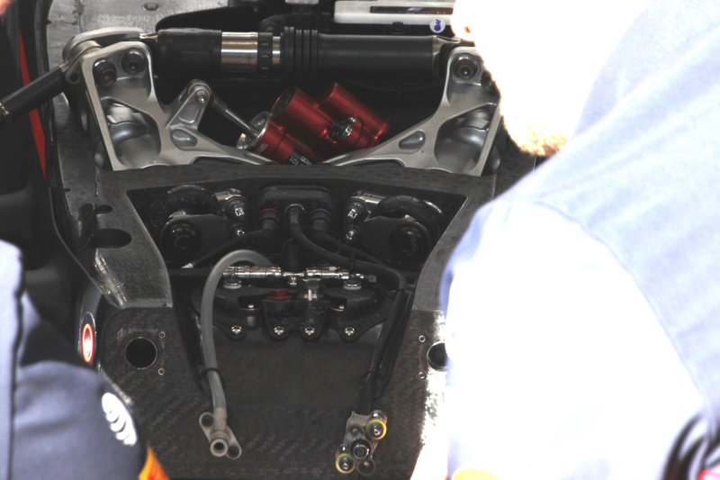 Detalle frontal del Red Bull Racing RB16
