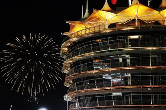 Feuerwerk am Bahrain International Circuit