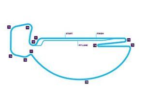 Streckenlayout für den ePrix Santiago der Formel E 2019/20