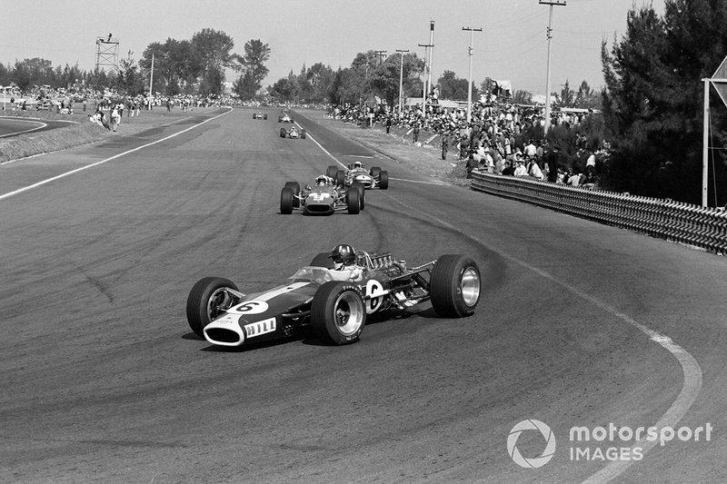 Graham Hill, Lotus, Chris Amon, Ferrari, Jack Brabham, Brabham