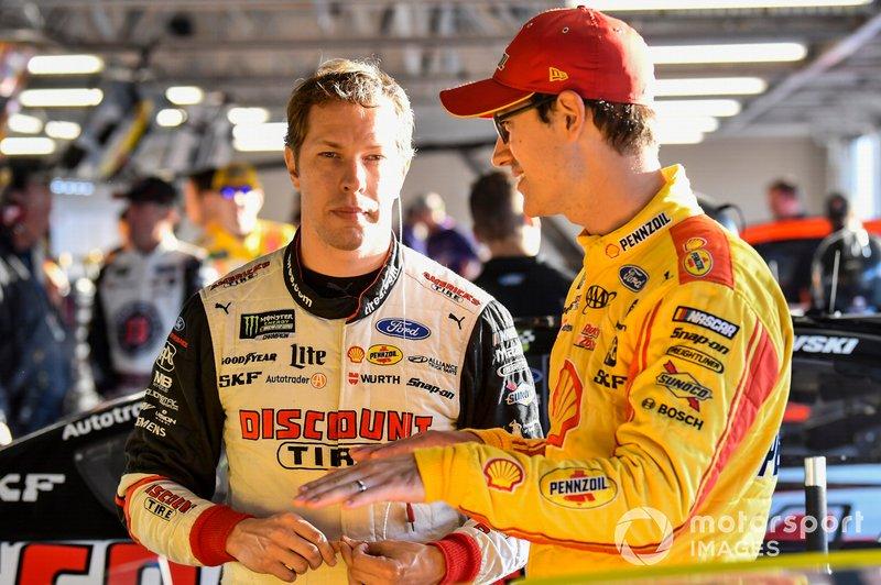 Brad Keselowski, Team Penske, Ford Mustang Discount Tire, Joey Logano, Team Penske, Ford Mustang Shell Pennzoil