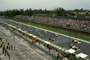Startaufstellung zum GP Mexiko 1990 in Mexico City