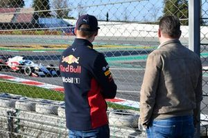 Max Verstappen, Red Bull Racing, and father Jos Verstappen