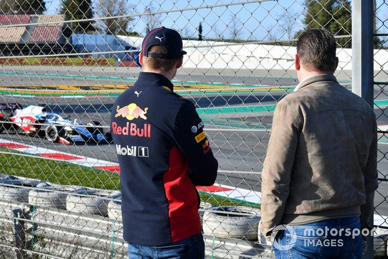 Макс Ферстаппен, Red Bull Racing, и его отец Йос Ферстаппен