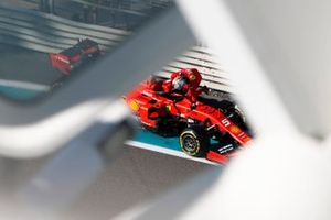 Sebastian Vettel, Ferrari SF90, climbs from his car after stopping on track