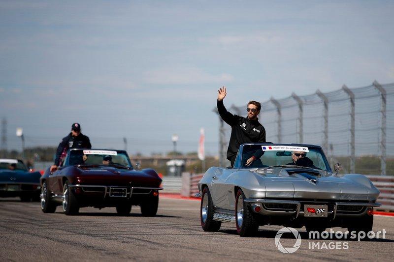 Romain Grosjean, Haas F1 Team, durante la drivers parade