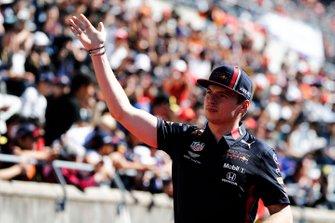 Max Verstappen, Red Bull Racing, durante la drivers parade