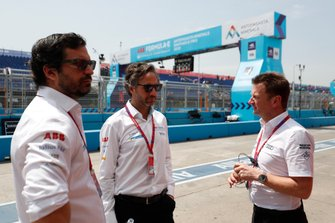 Enrique Buenaventura, Chief Legal Officer, Formula E CEO, Jamie Reigle, Allan McNish
